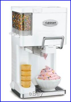 Ice Cream Maker Soft Serve Machine Frozen Yogurt Sorbet Icecream Sherbet Quart