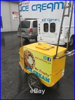Ice Cream Peddle Bike Cart For Novelty Products