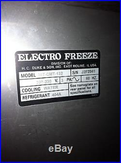 Ice cream machine Electro Freeze 30T-CMT-132 water cooled
