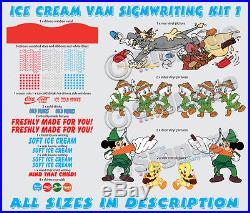 Ice cream van signwriting kit, re style your van with our ready to go kits