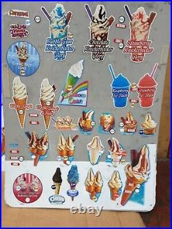 Ice cream van window stickers, Ice Cream Board