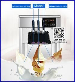 In US, stianless desktop commercial soft serve ice cream machine soft ice maker