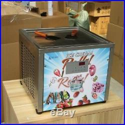 Kolice Countertop tabletop 45x45cm square pan fried ice cream roll machine