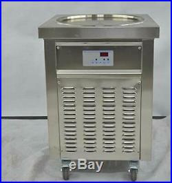 Kolice commcercial 18 (45cm) single round pan fry ice cream roll machine
