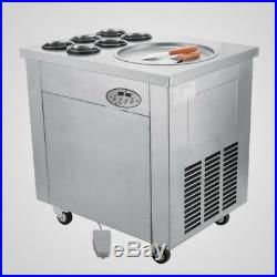 Local Fried Ice Cream Machine, Roll Ice Cream Maker withTemperature Control Panel