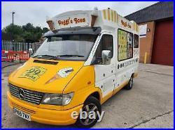 Mercedes Ice Cream Van with Whippy and Slush Machine