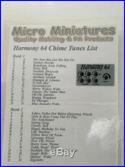 Micro Miniatures Harmony 64 Ice Cream Van Chimes (not Harvin)