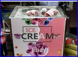 Mini Single Fried Ice Cream Roll Maker Pan Tray DIY Machine Rolled Ice Cream