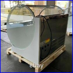 NEW 12 Pan Gelato Ice Cream Dipping Cabinet Freezer Display Cases Chest NSF ETL