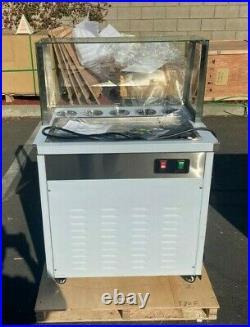 NEW 28 One Pan Thai Fried Ice Cream Roll Making Machine New Model ET-580F 110V