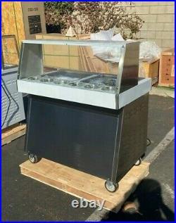 NEW 36 Two Pan Thai Fried Ice Cream Roll Making Machine Model ET-360FS-2 110V