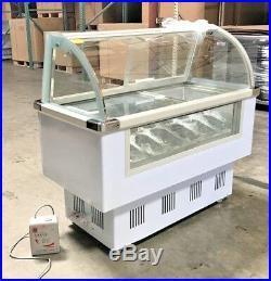 NEW 53 Ice Cream Gelato Freezer Display Case 14 Pans Included Model F14