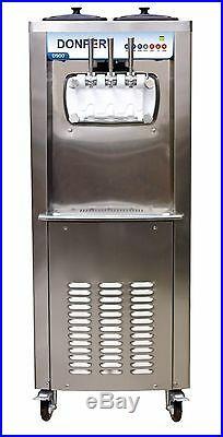 NEW Commercial 2 Flavor and Twist Soft Serve Ice Cream Machine 50 Quarts/Hour