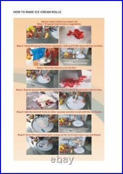 NEW Thai Fried Ice Cream Roll Making Machine Model FI90 ETL NSF Certified