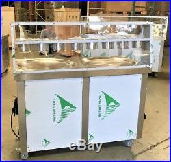 NEW Two Pan Thai Fried Ice Cream Roll Making Machine Model FI91 ETL NSF Approved