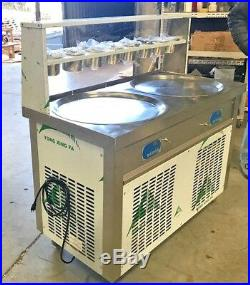NEW Two Pan Thai Fried Ice Cream Roll Making Machine Model FI91 ETL NSF Approved