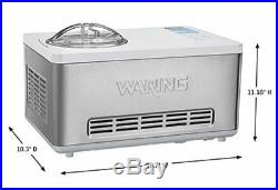 NEW Waring Commerical WCIC20 Electric 2 Quart Ice Cream Maker Machine
