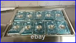 NSF Thai Fried Ice Cream Roll Machine 2 Pan with 10 Containers NEW