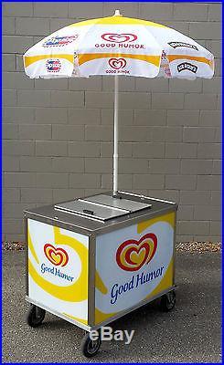Nelson BDC8 Cold Plate Ice Cream Vending Push Cart