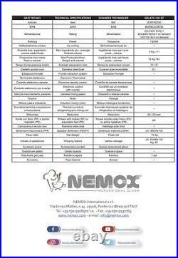 Nemox Pro 12k Professional Gelato Machine