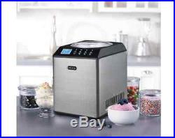 New 2.1 Qt Upright Electric Frozen Ice Cream Maker Machine Stainless Steel Bowl