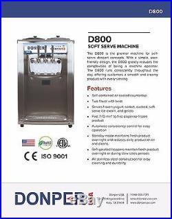New Commercial Soft Serve Ice Cream Frozen Yogurt Machine NO RESERVE