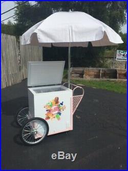 New PINK Breast Cancer Awareness Fundraiser Ice Cream Push Cart withUmbrella