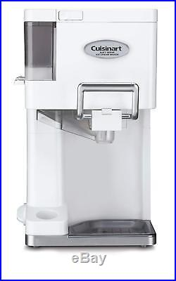 New Soft Serve Ice Cream Machine Yogurt Maker Cuisinart Electric Automatic White