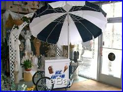 New Vendor Ice Cream Push Cart withUmbrella & Graphics Good Humor or Novelty Bars