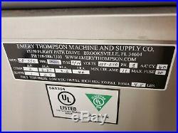 Nice Emery Thompson Cb 350 Ice Cream Machine 220 Volt Single Phase 20 Amp