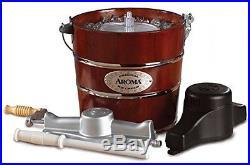Old Fashioned Ice Cream Maker Electric Hand Crank Machine 4-Quart Wood Bucket