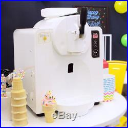 Patented Automatic Soft Serve Ice Cream Machine (No freezer bowls!)