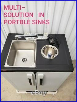 Portable sink mobile NSF Handwash Self contained AND Ice Cream Dipper Well 6