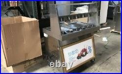 R410a, 14inch two pan Thai fried ice cream machine, fry ice cream roll maker
