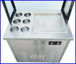 Refrigeration Cold Fried Ice Cream Machine Yogurt Roll Ice Cream Maker Frozen