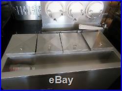 Ross 3-Barrel Frozen Custard Machine and a 4-Hole Ross Dipping Cabinet