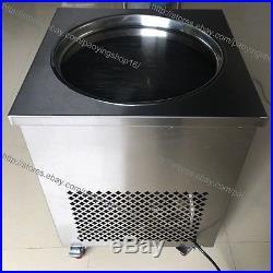 S/S 50cm Round Fry Pan Electric Thai Fried Yogurt Rolled Ice Cream Machine Maker