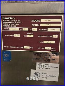Saniserv 407 Soft Serve Ice Cream Machine