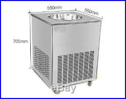 Single Flat Pan Fried Ice Cream Machine Fried Ice Cr eam Maker Commercial