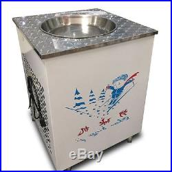 Single Flat Pan Fried Ice Cream Machine Fried Ice Cr eam Maker Commercial 220V Y