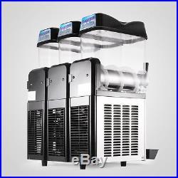 Slush Making Machine 3 Tank Snow Frozen Drink Smoothie Maker Commercial HQ