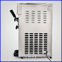 Soft Ice Cream Maker Frozen Yogurt Making Machine 110V 3-flavor 18L/H Commercial