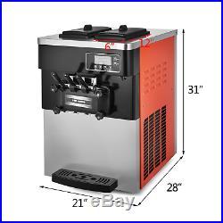 Soft Ice Cream Maker Frozen Yogurt Making Machine 110V 3-flavor 28L/H Commercial