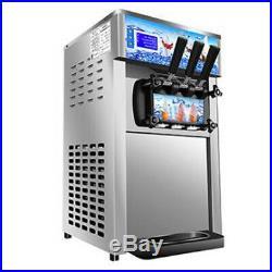 Soft Serve Ice Cream Machine 3-Flavor Frozen Yogurt Machine 2019 NEW USA