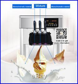 Soft Serve Ice Cream Machine, Ice cream maker machine with R410a refrigerant