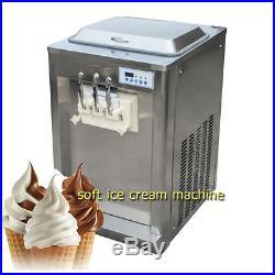 Soft Served Ice Cream Frozen Yogurt Machine 2 + 1 Flavor Rainbow BQ320T