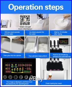 Soft serve ice cream machine, ice cream machine, free tax, free shipping in usa