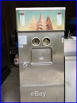 Soft serve ice cream station. 2 Coldelite 2 flavor dispen. 2 Door ref/prep bar