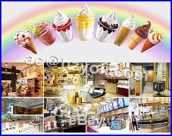Stainless Steel Three Flavor Ice Cream Machine/ Soft Ice Cream Machine, 110V/220V