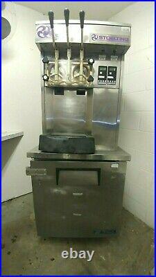 Stoelting Soft Serve Ice Cream Machine F131 & True Refrigerator